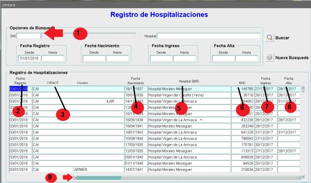 VISI Hospitalizaciones