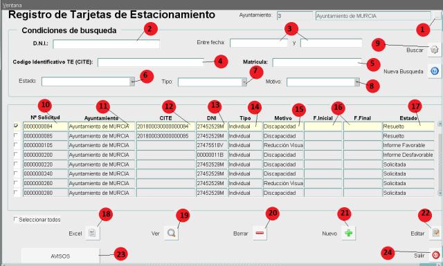 TERE - Registro Tarjetas
