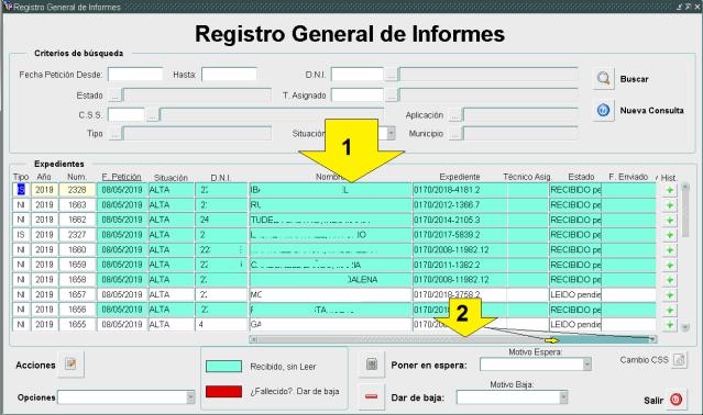 SUSI registro informes