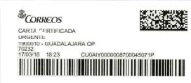 PEGATINA CORREOS 02