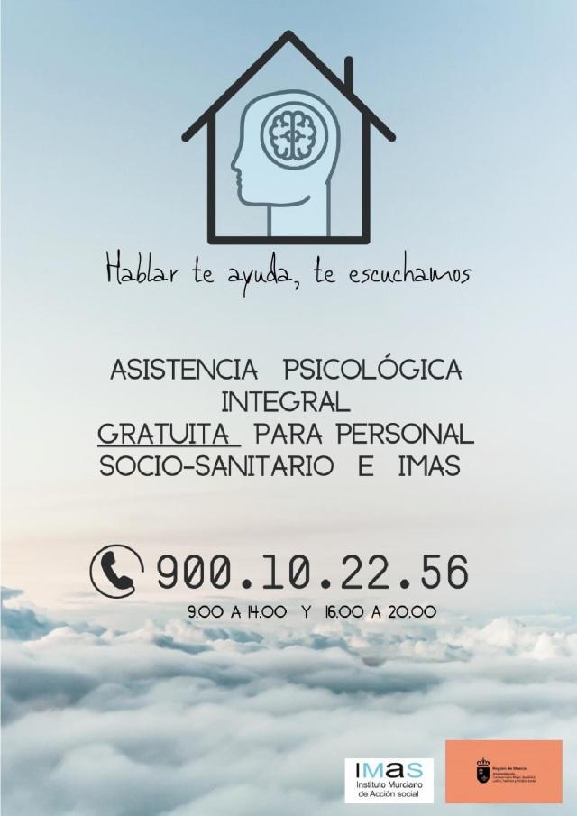 ATENCION PSICOLOGICA INTEGRAL GRATUITA PERSONAL SOCIO-SANITARIO E IMAS