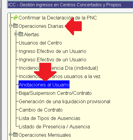 icc menu anotaciones